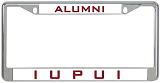 Dwi24isty License Plate Frame IUPUI Metal in Chrome Alumni US Size 12×6 Inches