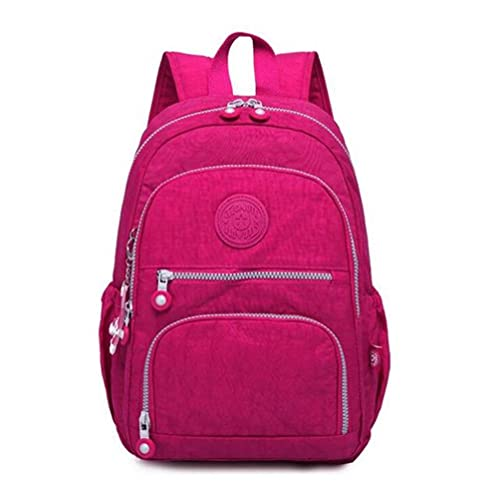 UKKO Mochila Mochilas para Mujer Mochila Escolar para Adolescentes Mujeres Mochilas Feminina Mujer Papa Portátil Bagpack Bolsas De Viaje Sac A Dos-Wine Red,33X16X47 Cm 1377