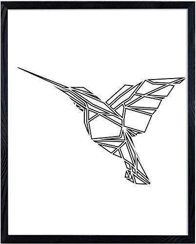 postergaleria Bilderrahmen | 50x70 | Schwarz | Holz | Plexiglas | 8 Farben | 5 Größen | Posterrahmen | Fotorahmen