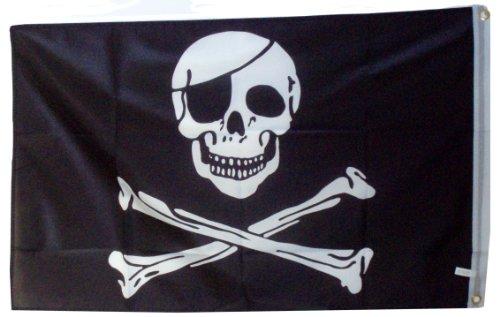 Bandiera Jolly Roger da 152.4 x 91.44 cm - 1 pacco