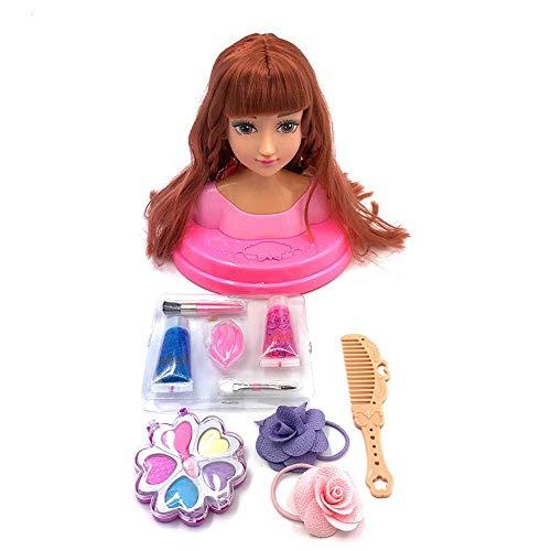 Fanclande Maniquíes para Peinar Y Maquillar, Muñecas De Simulación De Maquillaje para Niños, Juguete para Vestir Niña