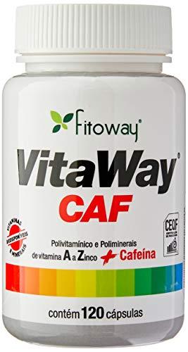 Vitaway Caf - Polivitamínico A Z + Cafeína - 120 Cáps, Fitoway