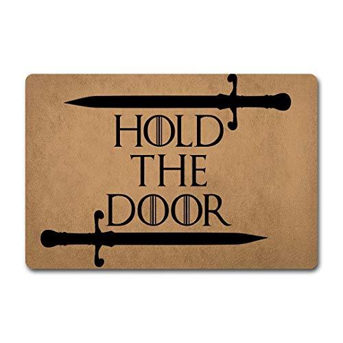 okstore1988 Divertido Felpudo Entrada Mat Hold The Door Felpudo-Interior Decoración Exterior Alfombrilla para Puerta 23.6 x15.7 Pulgadas