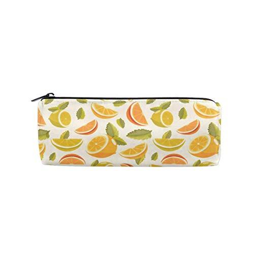 Zitrone und Limette Limonade Muster Zylinder Kosmetiktasche Small Travel Organizer Pencil Case