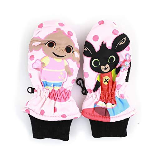 Bing Bunny - Bambina - Guanti da Sci Neve Sport Invernali Con Polsino Elasticizzato [631 2 Dita Rosa Scuro - 3-4 anni]