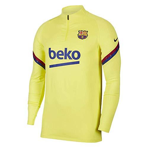 Top FC Barcelona Strike 2020 - Camiseta de entrenamiento para hombre, color amarillo