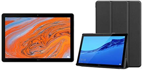 HUAWEI MediaPad T5 Tablet-Black (10.1 inch, 3+32GB, Wi-Fi + 4G LTE, 5 MP Rear Camera, 5100mAH Battery, 16.7M Colours, Dual Stereo Speakers, Children's Corner, Octa-Core Processor, Bluetooth) + Cover