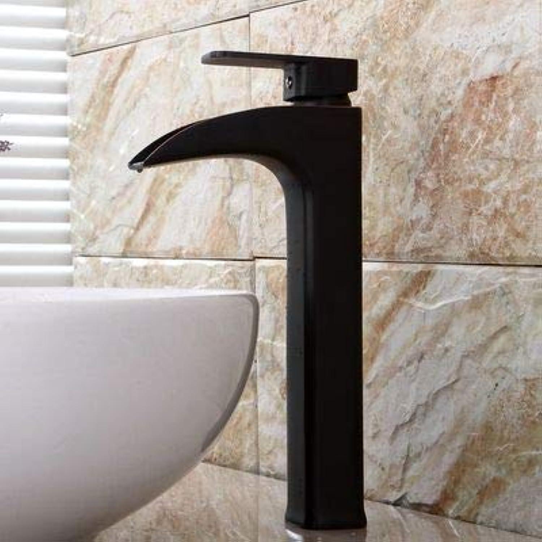 Copper Basin Faucet European Retro Wash Basin Basin Antique Orb Black Waterfall Faucet 30.5X4.1X4.3Cm
