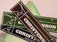 サーフィン ステッカー CHRISTENSON クリステンソン クリステンソン ステッカー 大 ブラウン