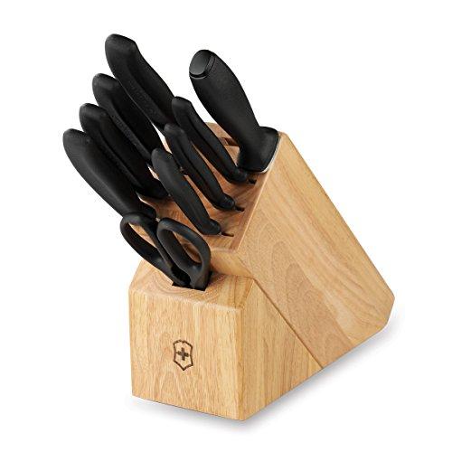 Victorinox Swiss Army Cutlery Swiss Classic Knife Block Set, 10-Piece