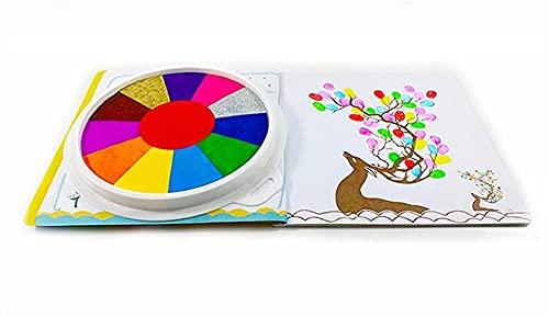 Lustiges Finger-Mal-Set, Ungiftig Fingermalfarben Für Kinder, Waschbares Fingerzeichnung Spielzeug Fingermalerei Kit Für DIY Basteln Malen, Kinder Frühes Lernspielzeug (Mit Buch,12 Color)