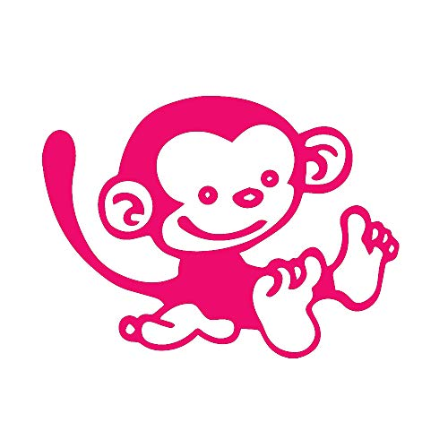 pink monkey wall decals - 7