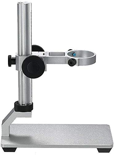 Aluminium Alloy Universal Adjustable Professional Base Stand Holder Desktop Support Bracket for Max 1.4' in Diameter USB Digital Microscope Endoscope Magnifier Loupe Camera (Aluminium Alloy)