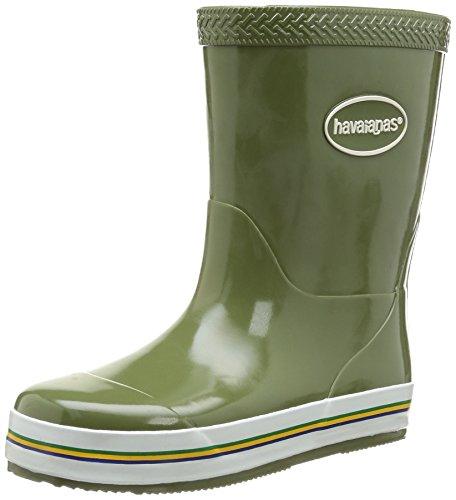 Havaianas Aqua Kids Rain Boots, Botas de Goma para Niñas, Multicolor (Dark Khaki), 33 EU (31 Brazilian)