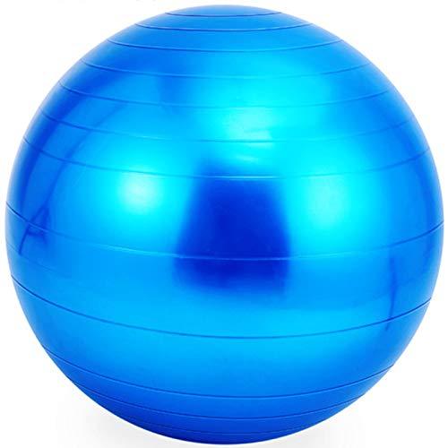 Bola de Yoga Bola de Yoga Bola de Gimnasia Bola de Gimnasia Sensor de Entrenamiento Integral, Material de PVC Diámetro de Bola de Yoga 55 cm,Azul