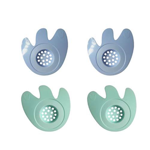 TOPBATHY 4Pcs Silikonhaarfängerhaarstopper-Duschabflussabdeckungen für Badezimmerbadewanne Und -Küche