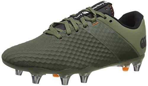Canterbury Men's Phoenix 3.0 Pro Soft Ground Rugby Boot, Deep Lichen Green/Black/Puffin'S Bill, 6.5 UK