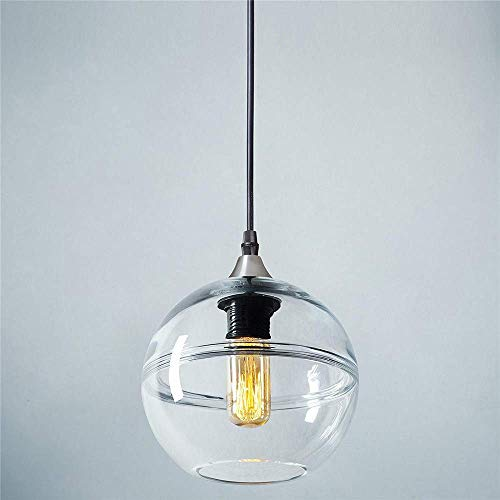 Pointhx Klarglas Deckenpendelleuchte Kreatives Design Restaurant Lampe Edison E27 Decor Suspension Laterne Galerie Bühne Museum Restaurant Hängelampe (Color : Clear-L-22.8 * 22CM)