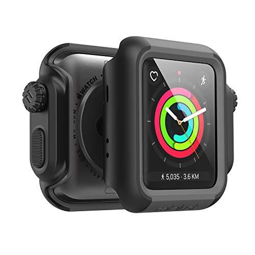 Catalyst Hülle für 42mm für Apple Watch Serie 3 & 2 - Stoß und Fallfest - Aufprallschutz für Apple Watch Hülle [Robuste iWatch Schutzhülle], Schwarz