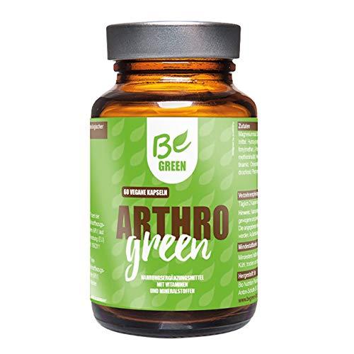 BeGreen Arthro Green | Hyaluronsäure, Zink, MSM, Folsäure, Selen und l-Prolin für die körpereigene Kollagen-Synthese | ohne chemische Entzündungshemmer | hochdosiert, vegan | 60 Kapseln