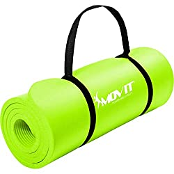 Movit XXL Pilates Gymnastikmatte, Yogamatte, phthalatfrei, SGS geprüft, 190 x 60 x 1,5cm, Hellgrün