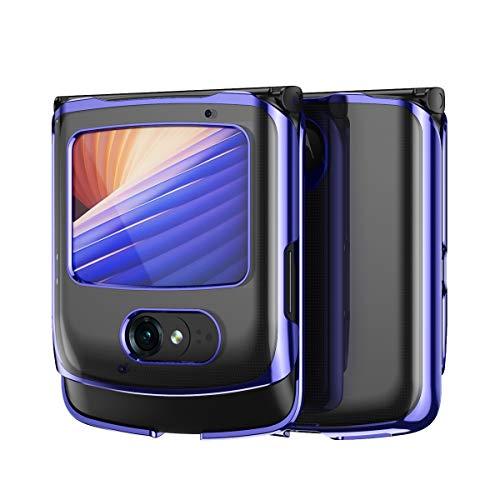 Hauw Funda Motorola RAZR 5G,Transparente Carcasa Trasera para Teléfono...