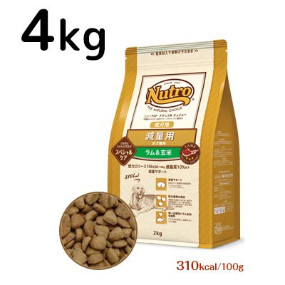 NUTRO(ニュートロ)『スペシャルケア 減量用 全犬種用 成犬用 ラム&玄米』