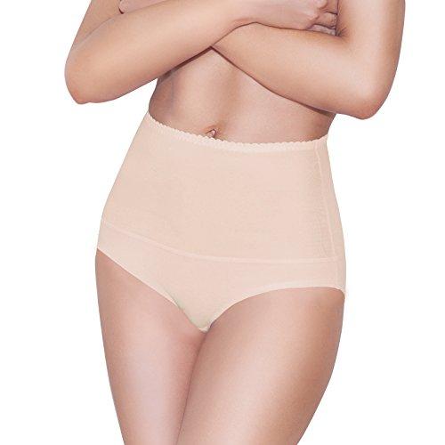 Damen figurenformend Miederstring Bauch Weg Stark Formend Miederpants mit Hoher Taille Miederslip Bauchweg String Damen (M, Beige)
