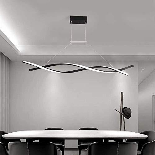 ZCZZ Lámpara Colgante de Techo LED Regulable con lámpara Colgante de Control Remoto Diseño en Espiral Creativo Moderno para Cocina Isla Bar Café Mesa de Comedor Sala de Estar Loft Uf