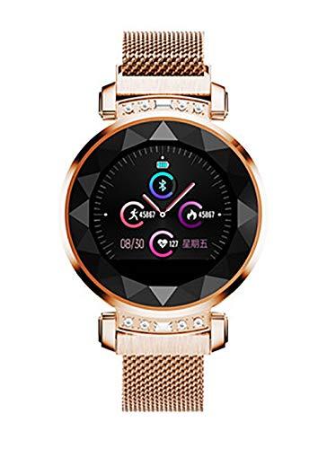 Reloj inteligente, pantalla TFT de 1,04 pulgadas, interfaz USB 2.0, de moda y hermosa, detección de salud, modo multideporte, análisis del sueño para todos (color: dorado)