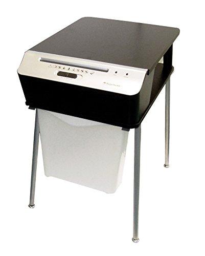 Bonsaii 510909 Doc Shred Fit | Druckertisch Aktenvernichter |Partikelschnitt | 7 Blatt |10 Liter | 4x40 mm Partikelgröße (P-4) | Maße (LxBxH in cm): 41x54x65 | Belastbar bis 50 kg