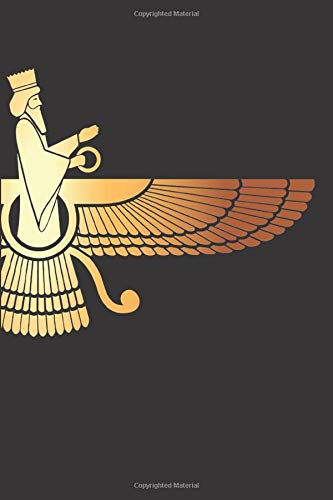 """Faravahar: 120 Pages 6"""" x 9"""" Blank Lined Notebook, Journal or Diary"""