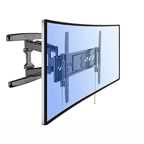 Soporte para TV, Panel Curvo Soporte articulado para Montaje en Pared para TV, función giratoria de inclinación de Brazo Doble para televisores UHD OLED 4K de 32'-70' (para televisores de Panel Plano