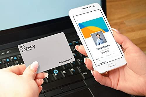 Biglietto da visita NFC stampato con profilo personalizzato online per biglietti da visita digitali e link di condivisione mediale sociale (PVC/plastica)