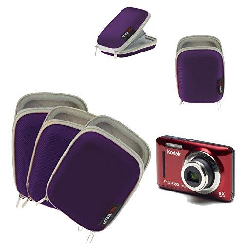 Navitech lilane Wasser wiederständige Harte Digital Kamera Tasche für dasKodak Pixpro SP360 4K