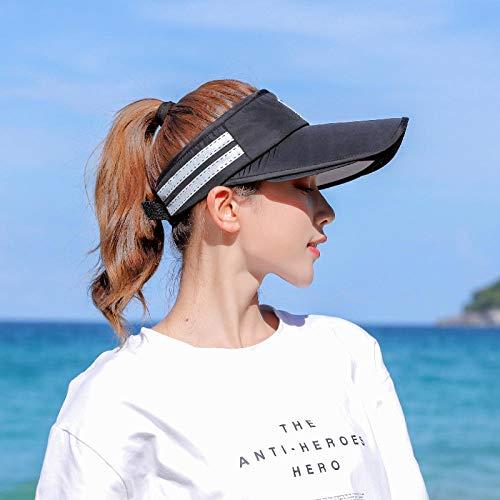 Unbrace Hoed, UV-bescherming, dames, zomer, fiets, zonnescherm, lens voor elektrische auto, blauw