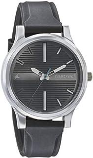 ساعة فاستراك فاندامينتالز بمينا فضية اللون وعرض انالوج للرجال