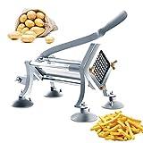 HDMENG Cortador de Patatas Fritas de Acero Inoxidable, Trituradora de Verduras Comercial, Máquina Cortadora de Patatas Fritas con Cuchillas, Rebanadoras Profesionales Cocina