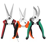 KeShi Pruner Shears Garden Cutter Clippers, Stainless Steel Sharp Pruner Secateurs,...