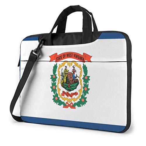 15.6″Lightweight Laptop Notebook Shoulder Backpack Bag Flag of West Virginia Waterproof PC Briefcase Messenger with Strap