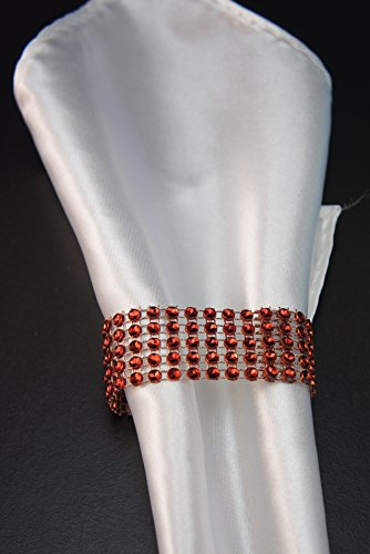 Angel Isabella 10pcs Set: Apple Red Bling Napkin Ring Holder Decor