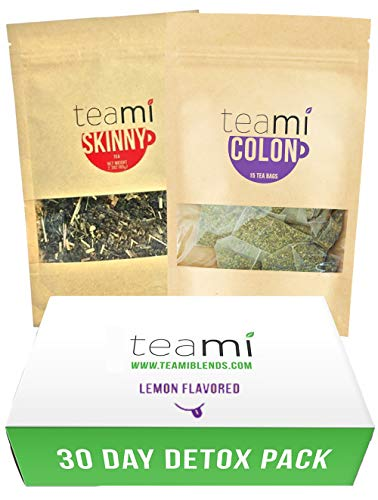 Teami 30-Day Detox Tea Pack: All-Natural Teatox Kit with Teami Skinny & Teami Colon Cleanse Loose Leaf Herbal Teas (Lemon)