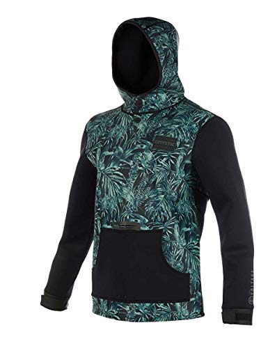 Mystic Watersports - Surf Kitesurfen & Windsurfen Voltage Sweat Neoprenanzug Hoodie Hoodie Jumper Green Allover