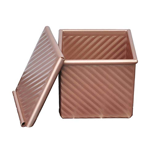 HNIWDJ Box Homemade Toast Making Water Ripple With Cover Bread Tins for Cake Non Stick Baking Mould Champagne Vented Hole Loaf Pan