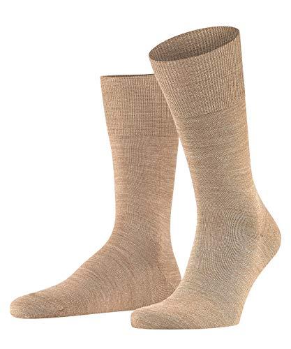 FALKE KGaA FALKE Herren Socken Airport, Merinowolle Baumwolle, 1 Paar, Braun (Nutmeg Melange 5410), 43-44 (UK 8.5-9.5 ? US 9.5-10.5)