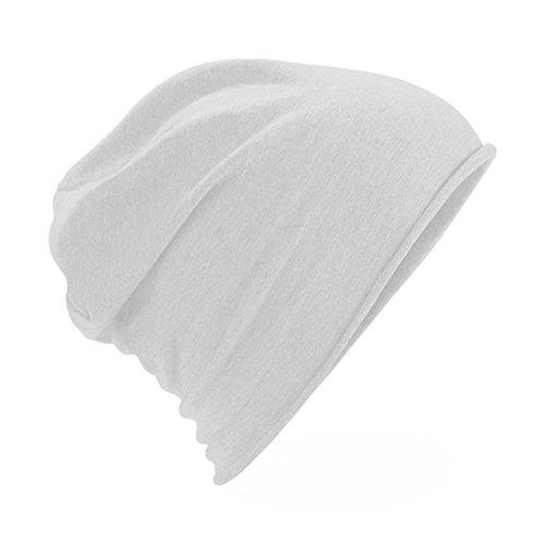 Beechfield - Gorro Beanie Modelo Jersey Plain Unisex Hombre Mujer (Talla Única) (Blanco)