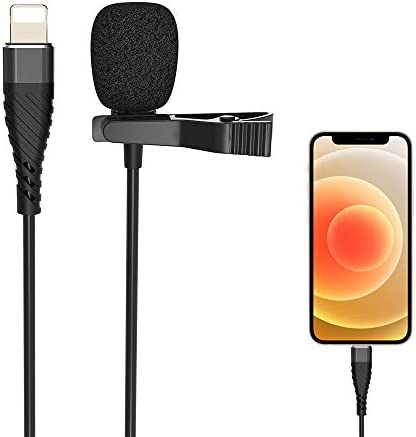 Lavalier Lapel Microphone Condenser Mic for iphone 8 8P X XR 11 12 for Collect sounds Omnidirectional product image