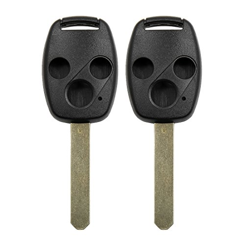 uxcell 2 Pcs New 4 Buttons Uncut Key Remote Case Shell Replacement for Honda Accord CRV