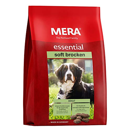 MERA essential Hundefutter > Soft Brocken < Halbfeuchtes Trockenfutter für ausgewachsene Hunde mit normalem Aktivitätsniveau - Ohne Zucker & Konservierungsstoffe (12,5 kg)