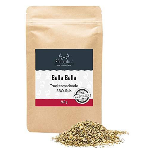 Balla Balla, Premium Grillgewürz mediterran, Trockenmarinade, BBQ Rub, für Lamm, Schweinefleisch oder Fisch, 250g - Pfefferdieb®
